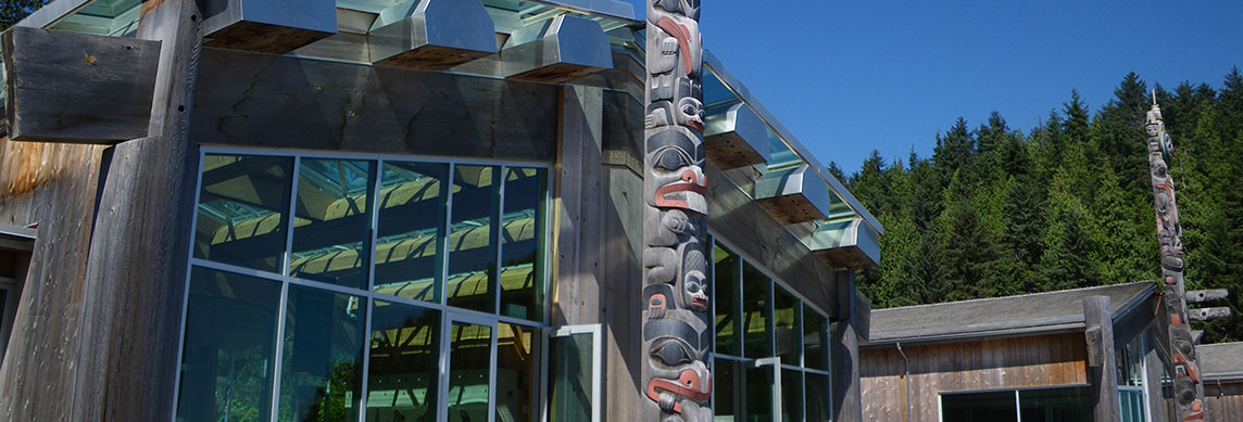 The Gift Totem Poles at East Beach of White Rock