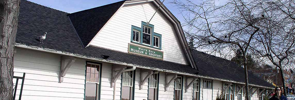 White Rock Museum and Archives at the Train Station Building on the beach